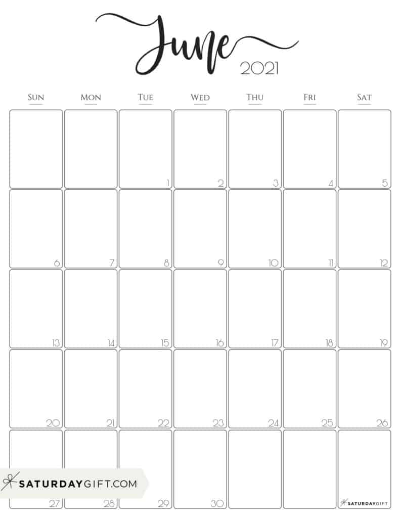 Images of June Calendar Template 2021