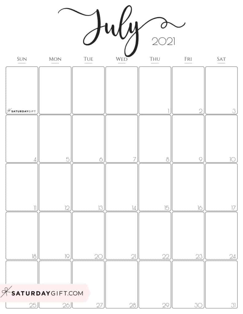 Cute 2021 Printable Blank Calendars : Cute 2021 Printable ...