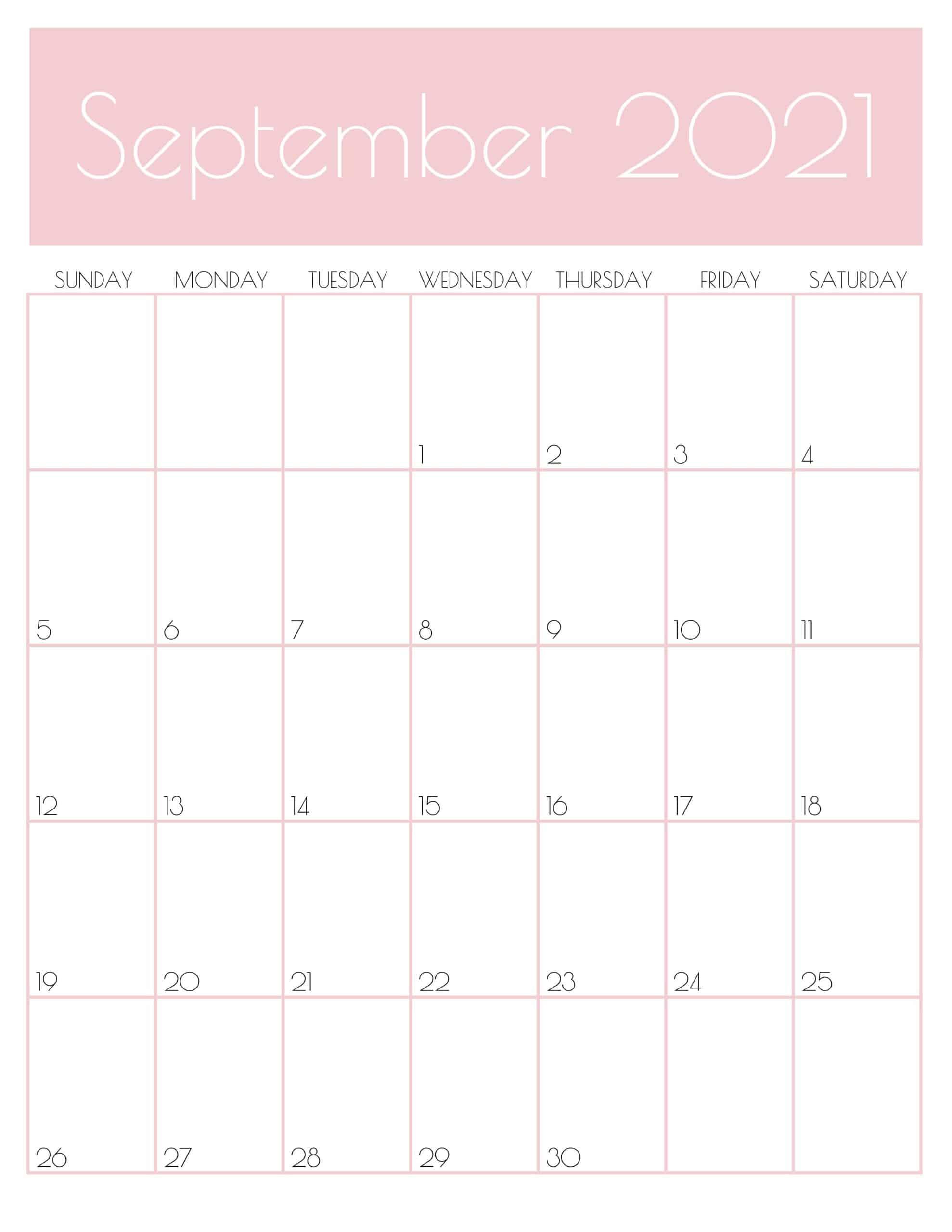 Photos of September 2021 Calendar Vertical