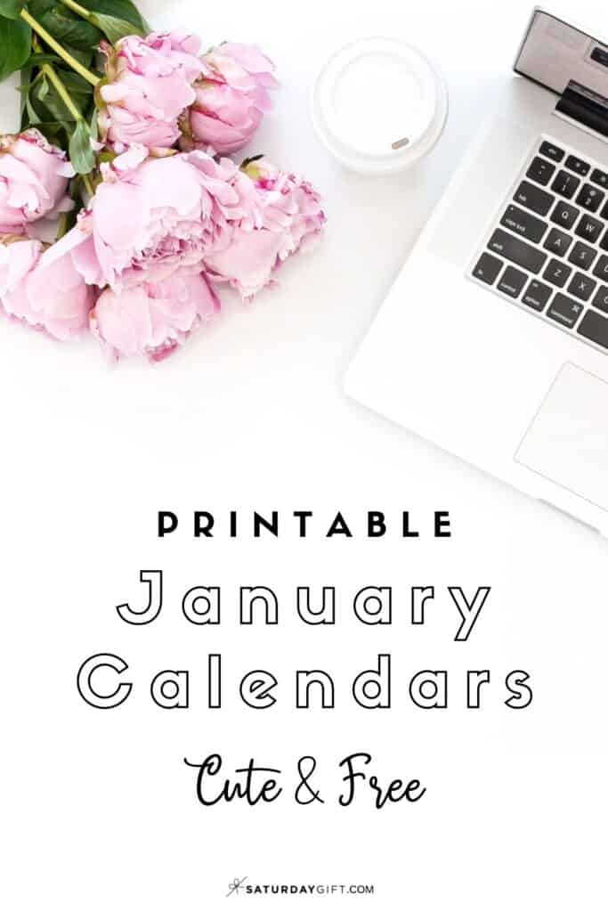 Looking for a cute, free printable January 2021 calendar? Here are some you might like! Choose your favorite from the pretty calendar designs!