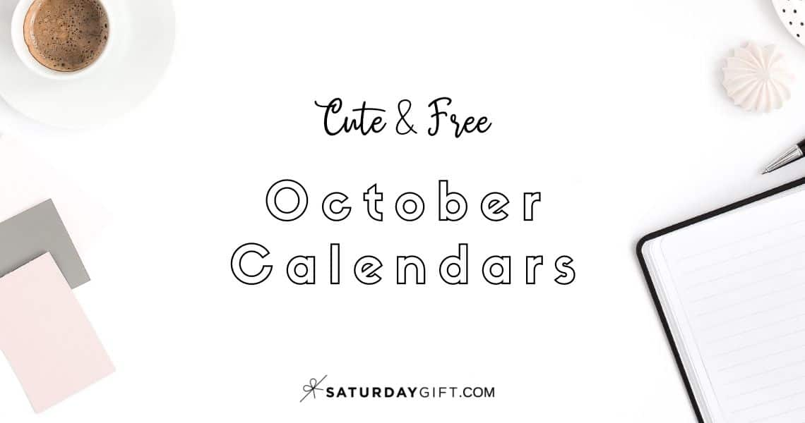 Looking for a cute, free printable October 2020 calendar? Here are some you might like! Choose your favorite from the pretty calendar designs!