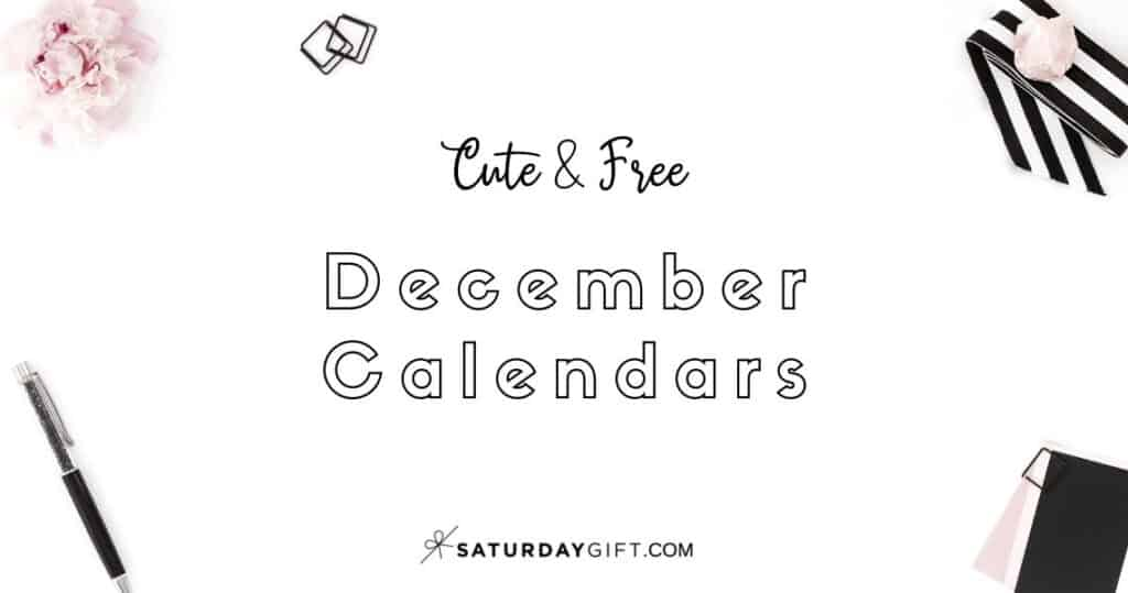 Looking for a cute, free printable December 2020 calendar? Here are some you might like! Choose your favorite from the pretty calendar designs!