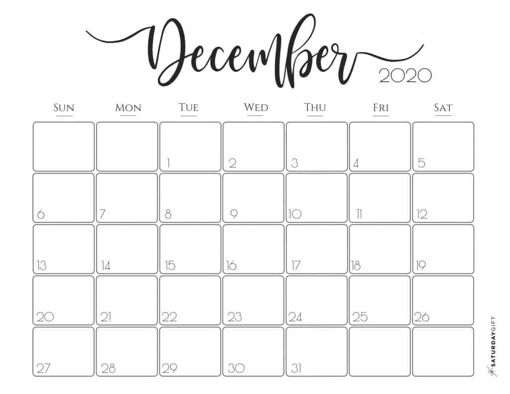 graphic about Free Printable 2020 Calendar referred to as Sophisticated 2020 Calendar Cost-free Printables SaayGift
