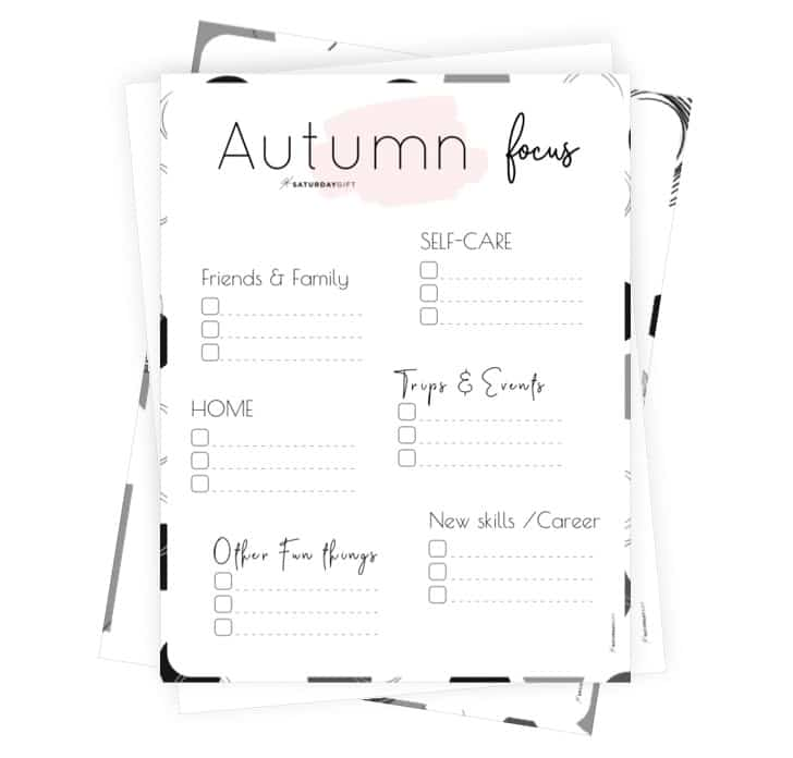 Autumn Focus Worksheets for September, October & November