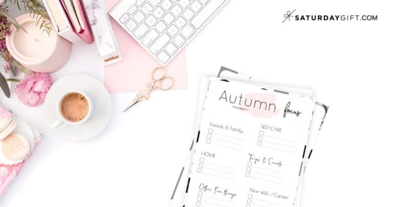 Write down your autumn plans and goals and stay focused {+Worksheet}