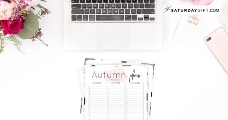 Minimal Autumn Planner For September, October & November