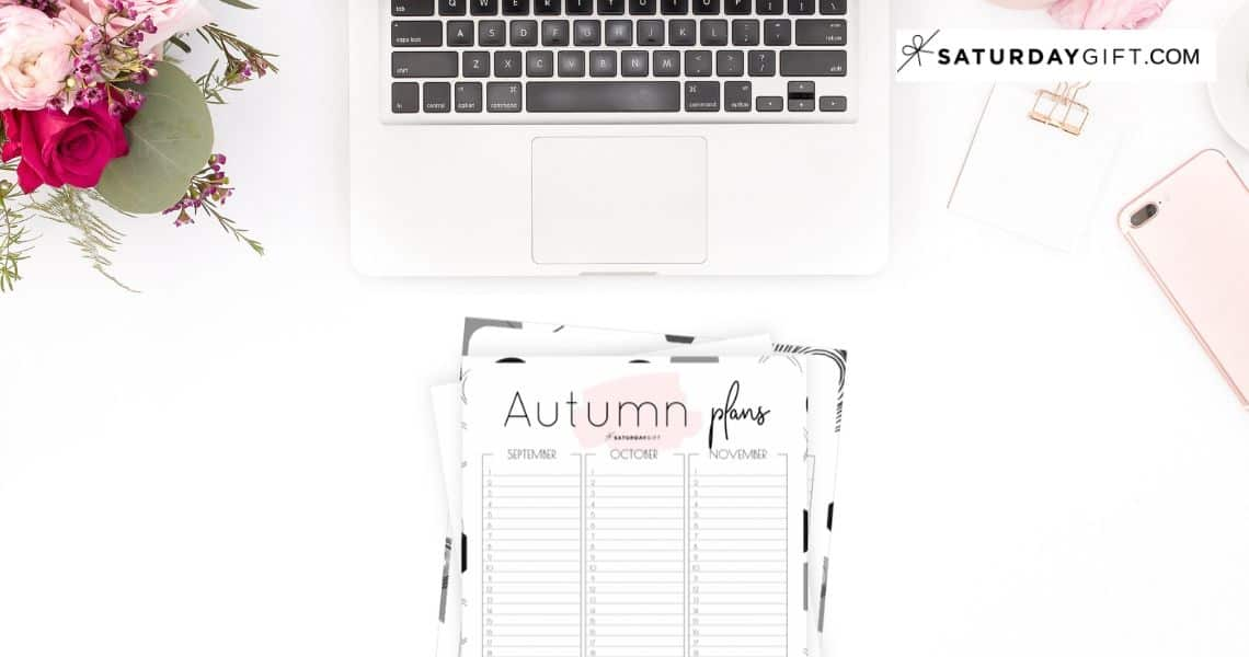 12 Week Plan - Minimal Autumn Planner for September, October and November {Free Printable Calendar Worksheet}