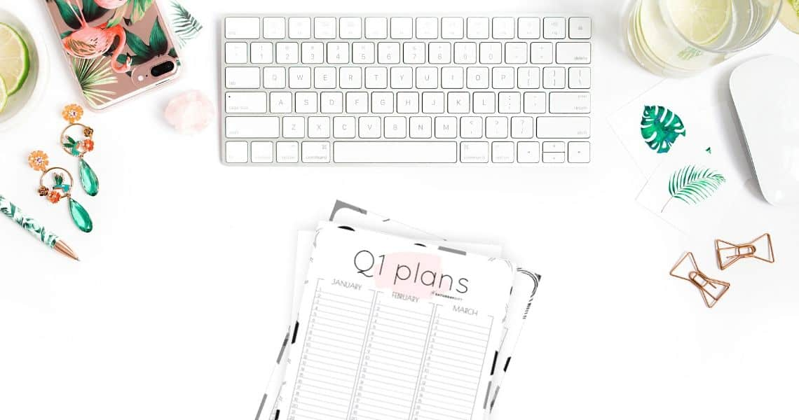 Quarter one planner sheets - Want to be extra productive and create a 12-week plan? Super! Here are minimal one-page free printables to plan for January, February & March. Four different designs.