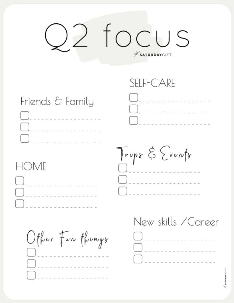 12 Week Plan - Q2 Quarter Two Plans and Goals for April May June beige {Free Printable Worksheet} | SaturdayGift12 Week Plan - Q2 Quarter Two Plans and Goals for April May June beige {Free Printable Worksheet} | SaturdayGift