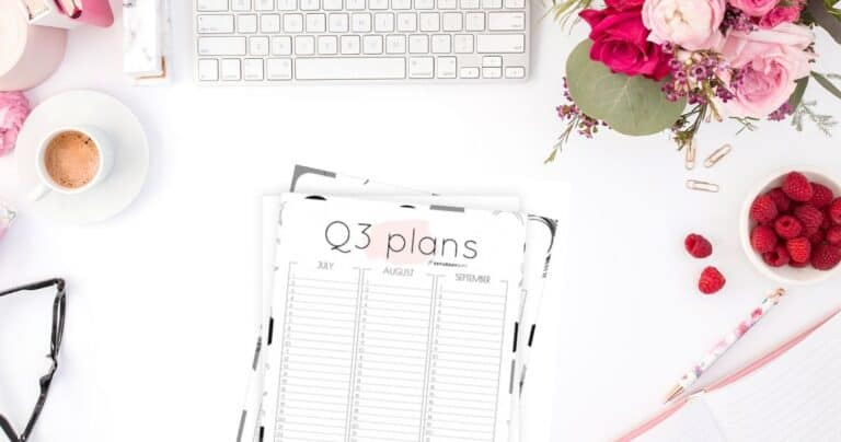 Q3 Calendar: Minimal Quarter Three Planner for July, August & September