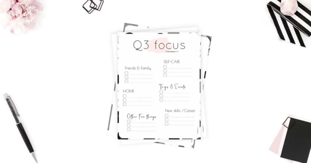 Q3 (Quarter Three) Plans and Goals for July August September Featured Image
