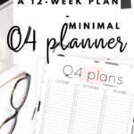 Q4 calendar: Quarter four planner for October, November & December Pinterest Image
