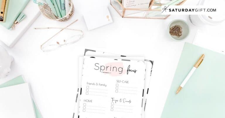 Write down your spring plans and goals and stay focused