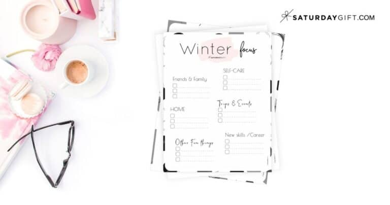 Write Down Your Winter Plans and Goals and Stay Focused {+Worksheet}
