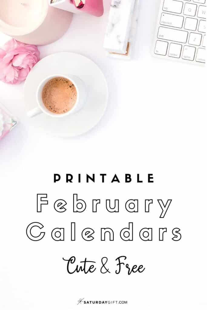 Looking for a cute, free printable February 2021 calendar? Here are some you might like! Choose your favorite from the pretty calendar designs!