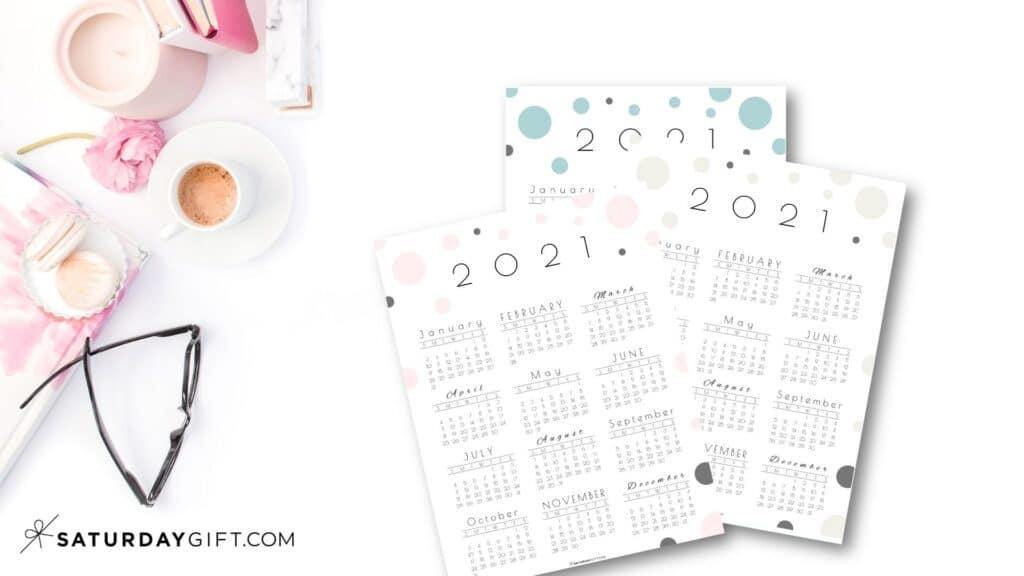 "SaturdayGift 2021 Calendar ""Pretty Dots"""