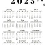 2025 Calendar Template - Week numbers 2025 Sunday-starting weeks