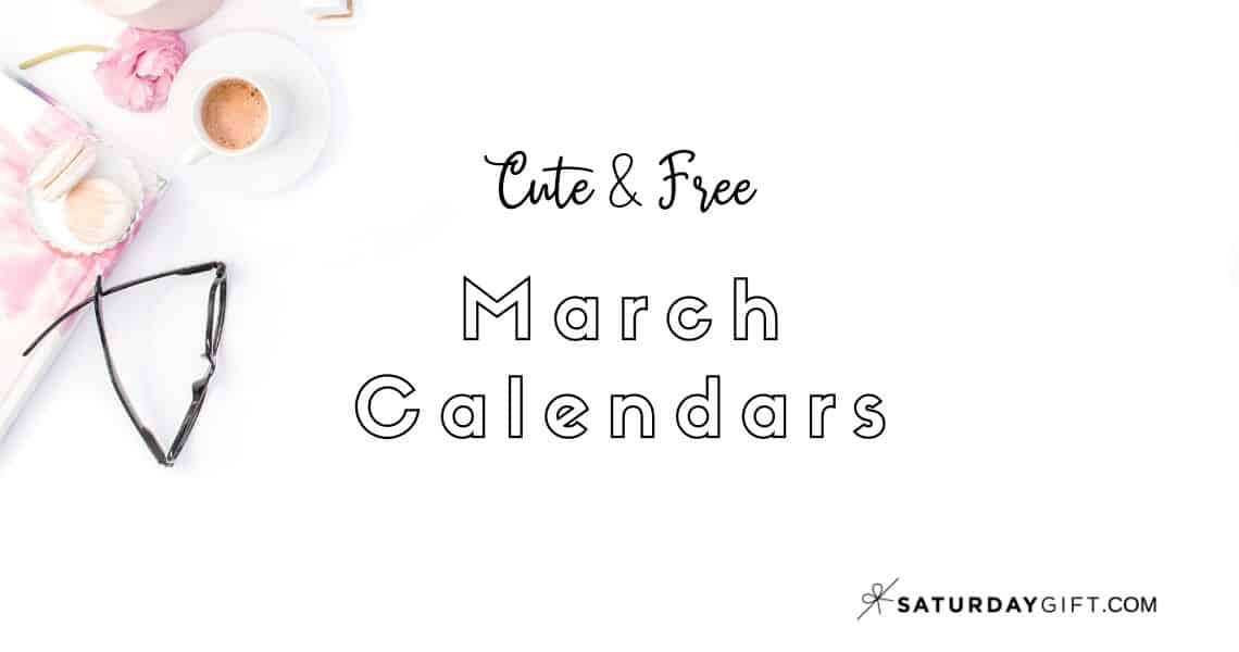Looking for some cute, free printable March 2020 calendars? Here are some you might like! Choose your favorite from the pretty calendar designs!