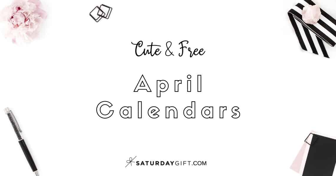Looking for a cute, free printable April 2020 calendar? Here are some you might like! Choose your favorite from the pretty calendar designs!