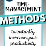 5 best time management techniques to increase productivity Pinterest Image