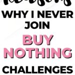 5 reasons why I don't join buy-nothing challenges