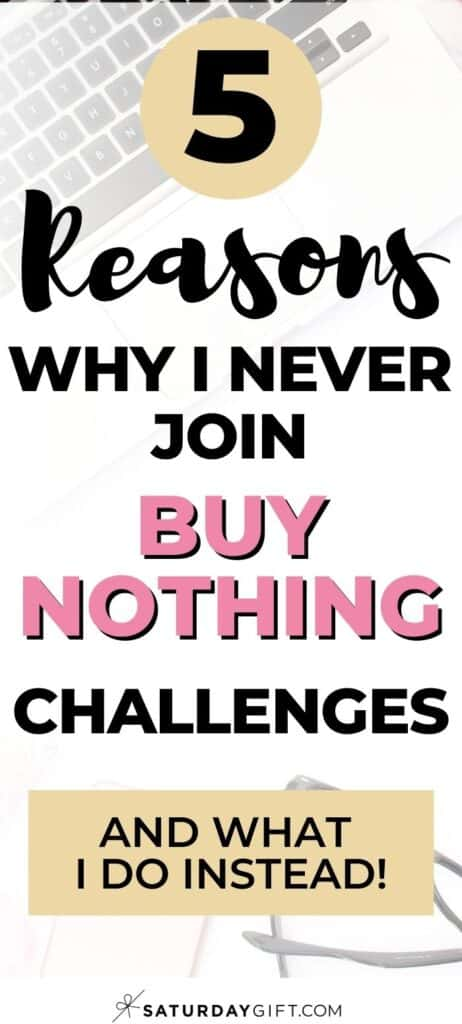 5 reasons why I never join a buy-nothing challenge - and what I rather do instead