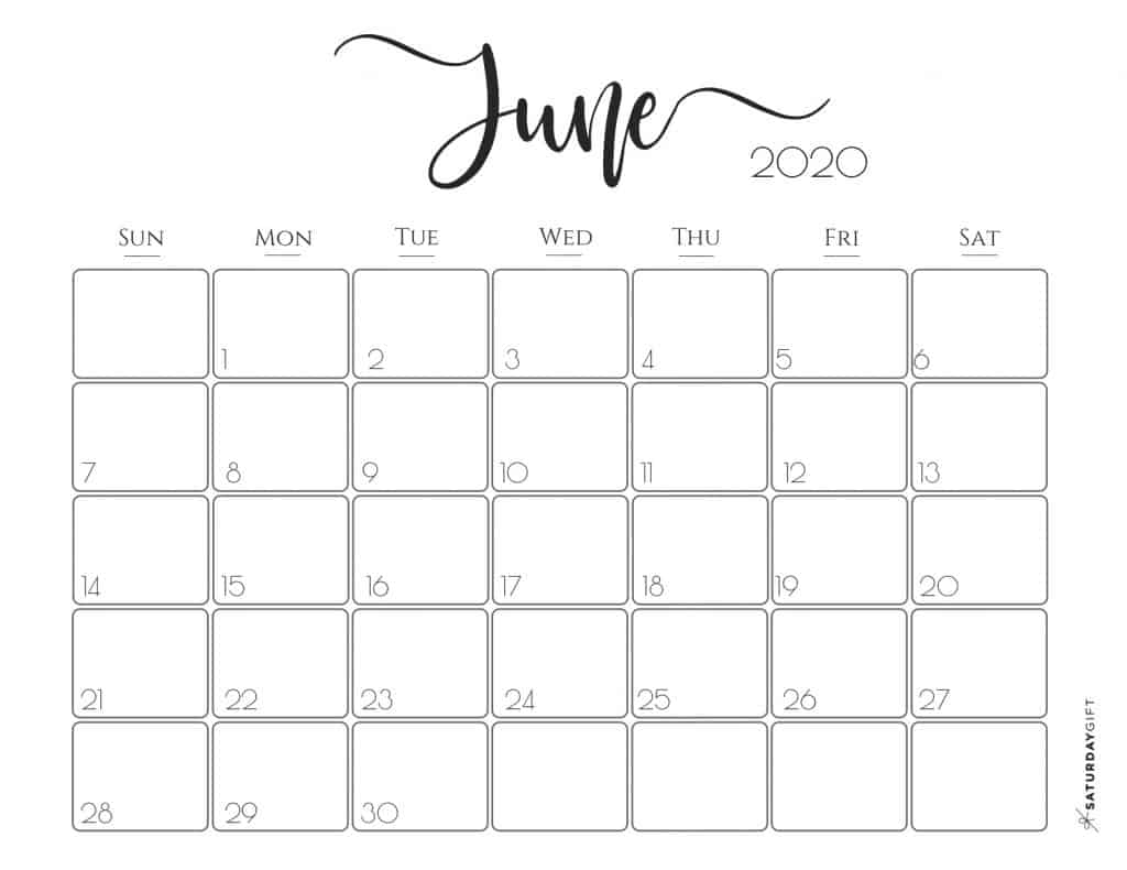 picture about Free Printable 2020 Calendar known as Classy 2020 Calendar No cost Printables SaayGift