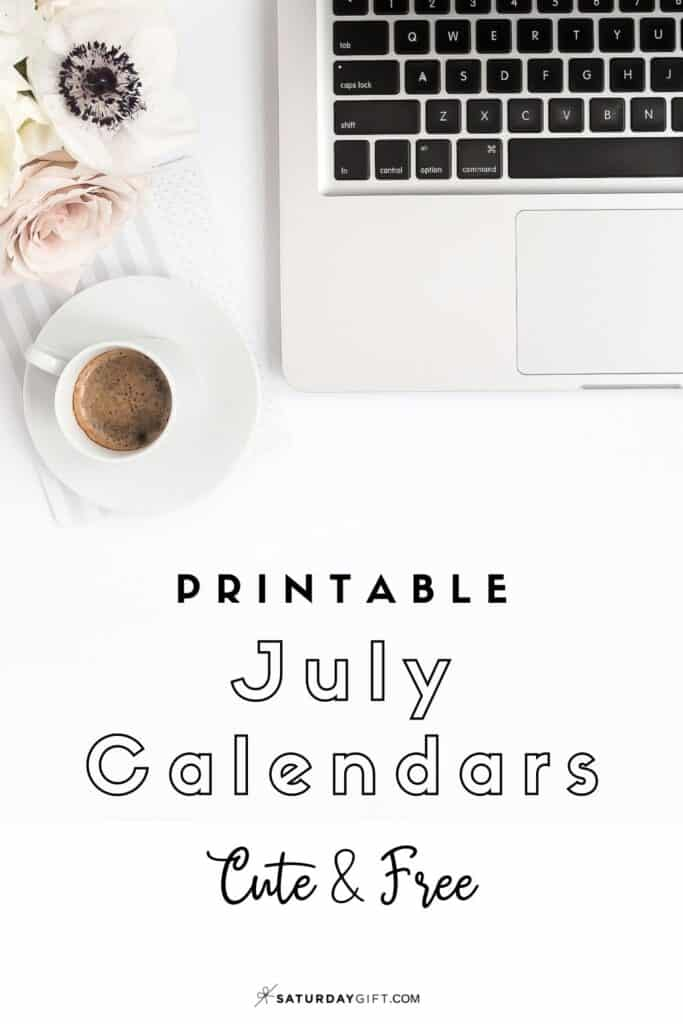 Looking for a cute, free printable July 2020 calendar? Here are some you might like! Choose your favorite from the pretty calendar designs!