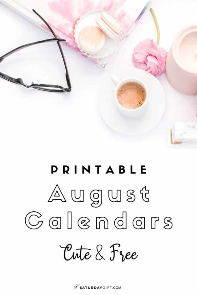 Looking for a cute, free printable August 2020 calendar? Here are some you might like! Choose your favorite from the pretty calendar designs!