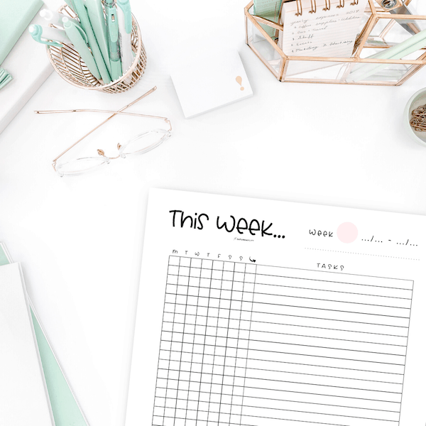 Alastair Method Weekly To Do List Printable