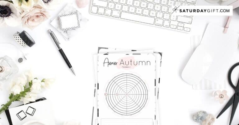 How to Assess Your Life With The Autumn Wheel Of Life {+ Worksheet}