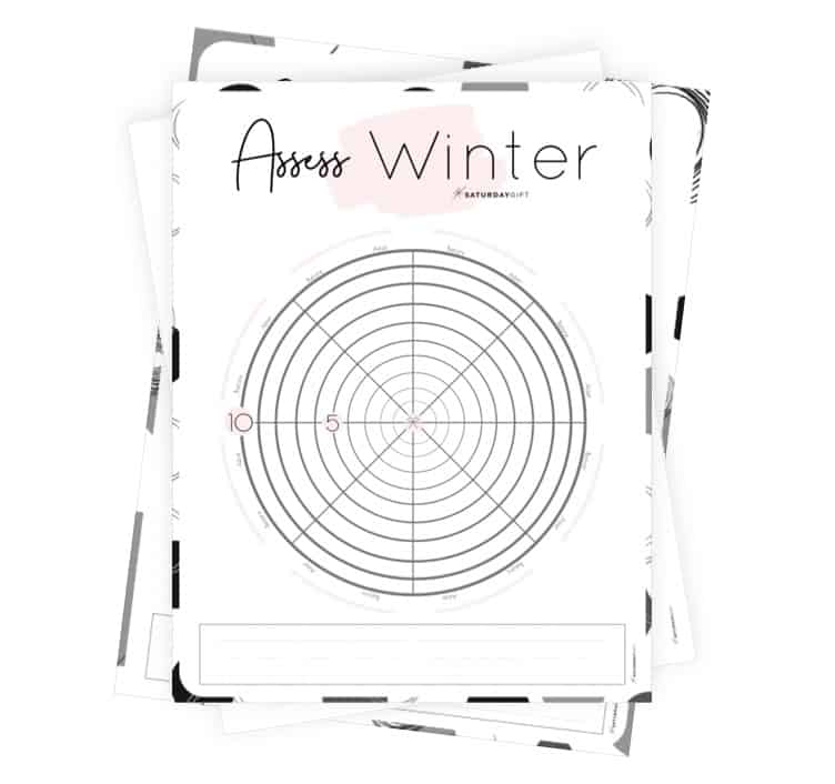 Winter wheel of life worksheets to assess your life