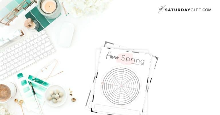 How to Assess Your Life With The Spring Wheel Of Life {Free Worksheet}