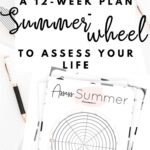 Assess your life with the summer wheel of life {Free printable worksheet}