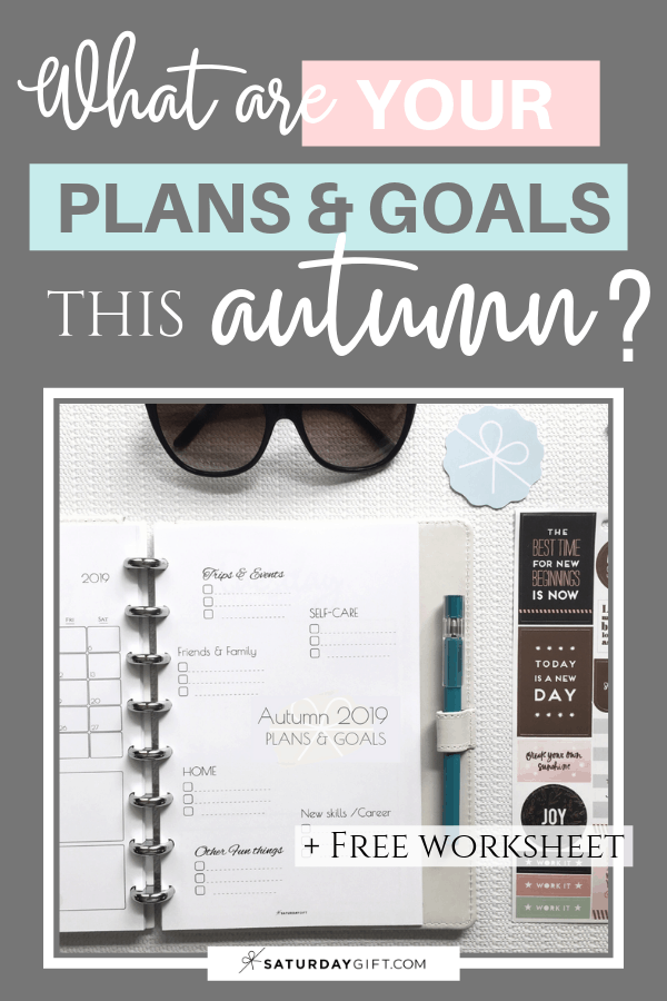 MInimal autumn plans and goals worksheet / planner sheet to set goals and create your best autumn yet. | Free printable planner sheet | Beige | US Letter | Resize to fit any planner | Pretty printable | Planner insert | Planning & Organizing | Minimalistic & simple | SaturdayGift | Saturday gift #SaturdayGift
