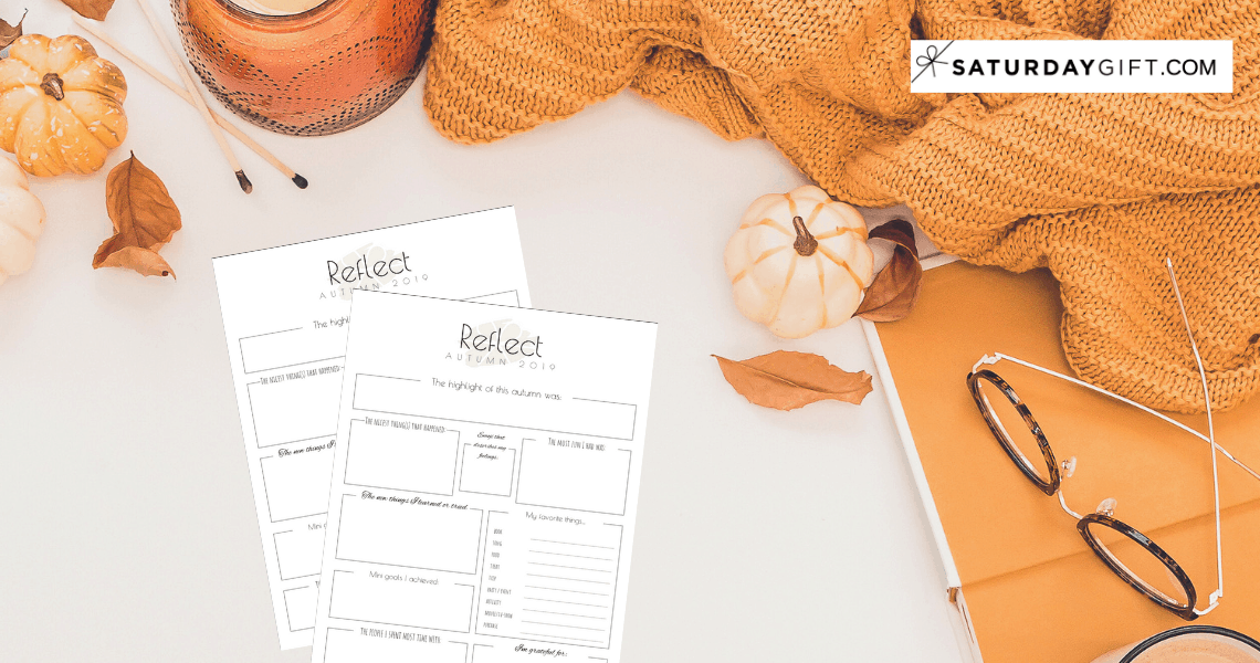 Autumn reflection worksheet. It's important to reflect before setting goals for the winter {+free worksheet} | Pretty printable | Planner sheet | Goal Planning | Reflect my year | Reflect on life | Achieve your goals | Self Development | Personal Development | Organization | Planning | SaturdayGift | Saturday gift #SaturdayGift