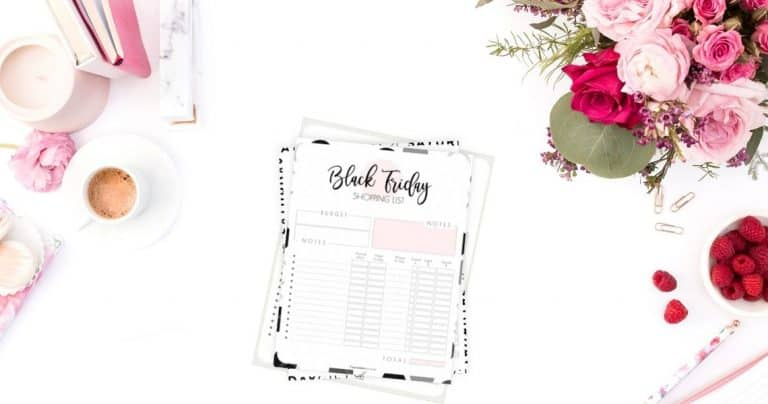 Black Friday Shopping List Printable
