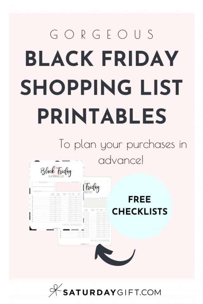 Want to plan ahead your Black FridayShopping, save money and make sure you won't buy things you didn't plan to buy? Super! Here's a pretty and practical Black Friday Shopping List Printable set that'll help you stay focused with all the amazing deals!