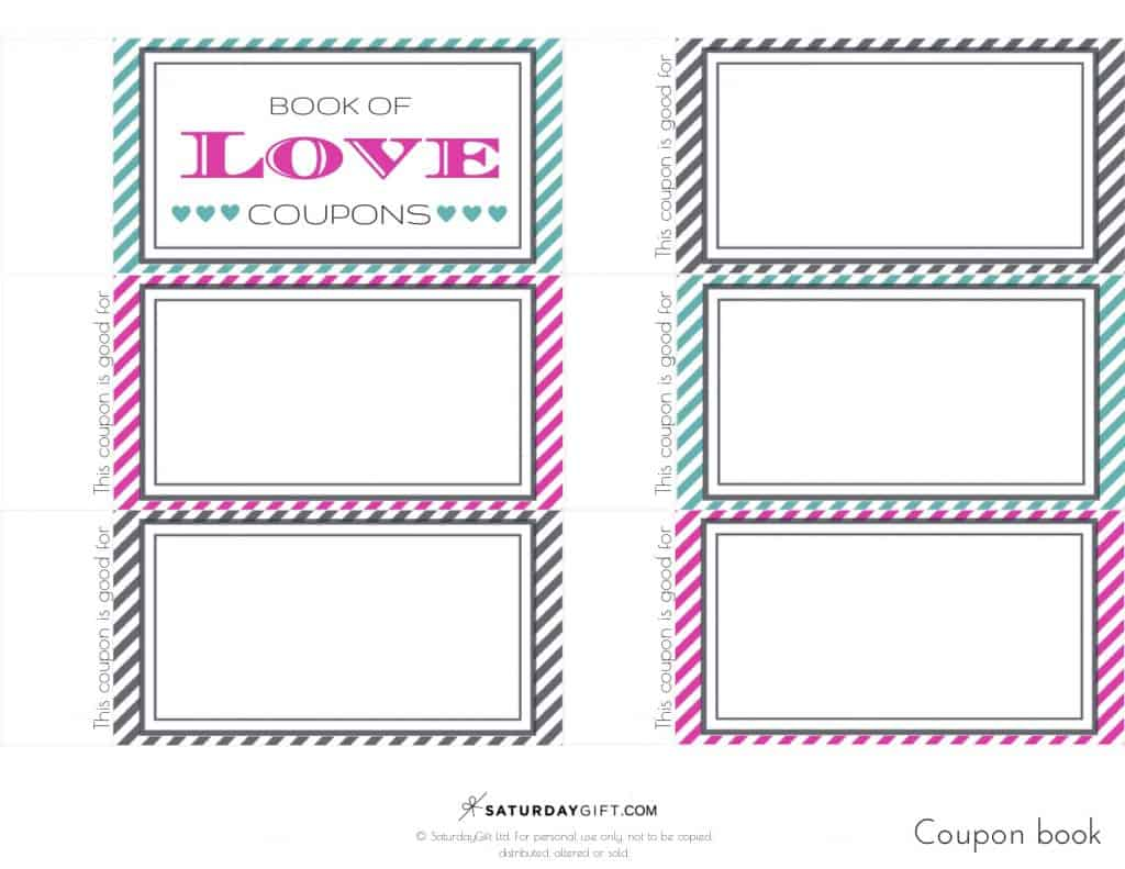 Want to create a cute extra gift for you loved one? Super! Download the Book of Love Coupons {free printables} and gift this fun & lovely coupon book to the one you love.