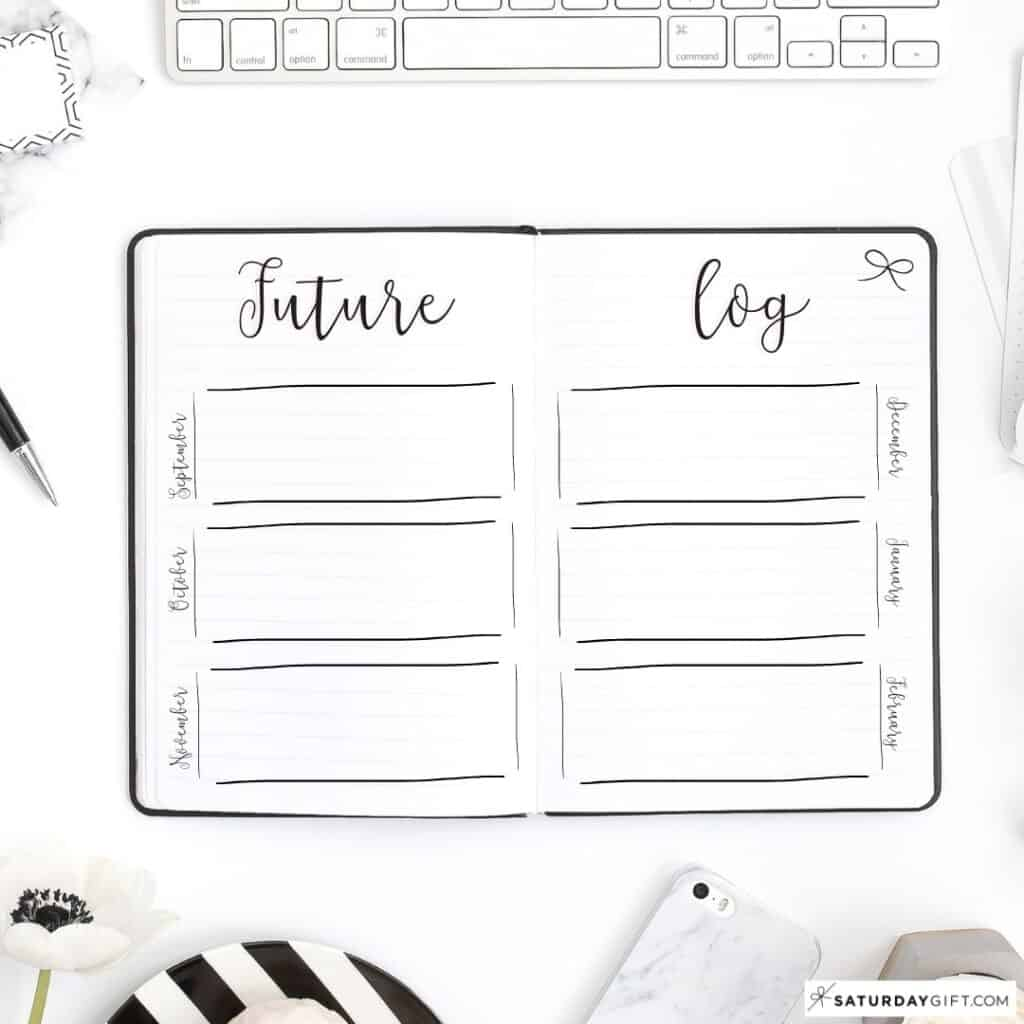 Bullet Journal Future Log - BuJo Future Log Ideas
