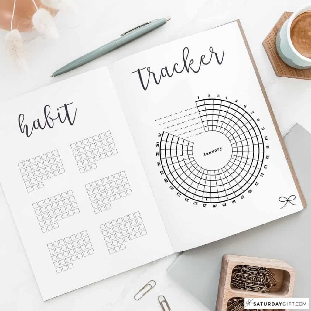 Bullet Journal Habit Tracker - BuJo Tracker Ideas