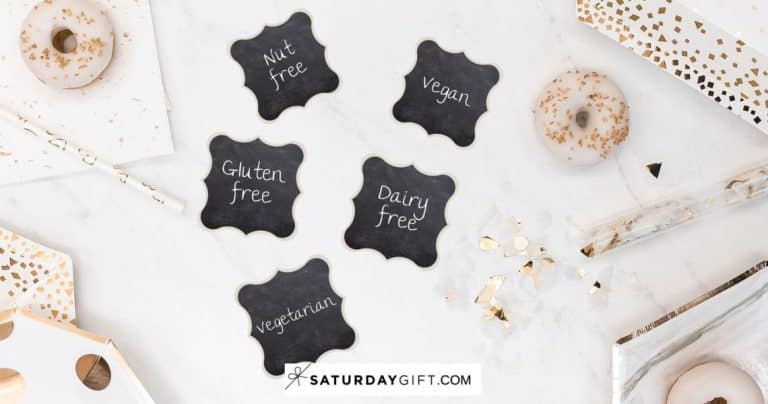 Chalkboard Buffet Food Labels {Free Printables}