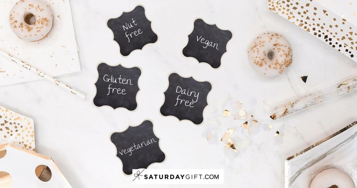 Cute food labels | SaturdayGift