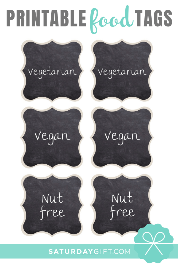 Chalkboard buffet food labels - free printable. | Pretty Printables | Free printable | Tags and labels | Food Tags | Food Labels | Party Planning | SaturdayGift | Saturday gift #SaturdayGift