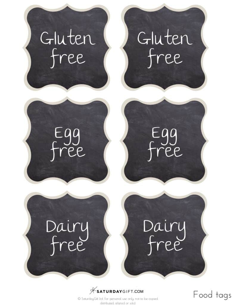 graphic about Free Printable Buffet Food Labels named Chalkboard Buffet Foods Labels Totally free Printables SaayGift