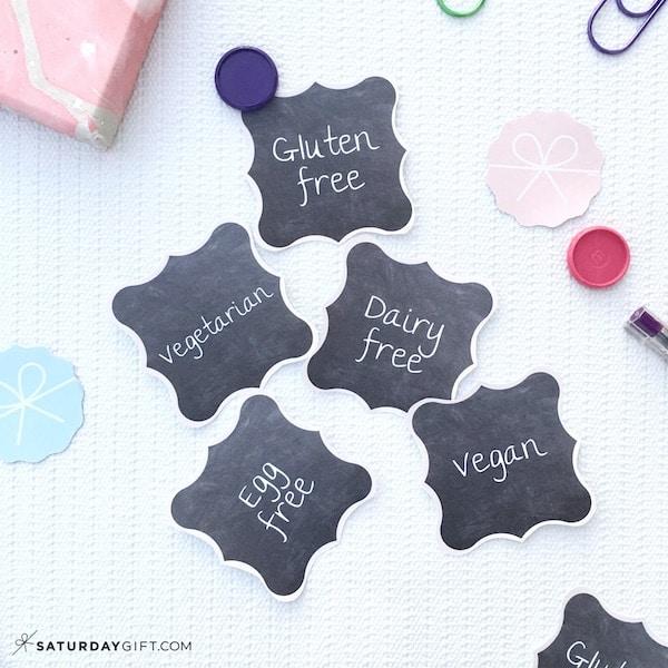Cute food labels | SaturdayGift