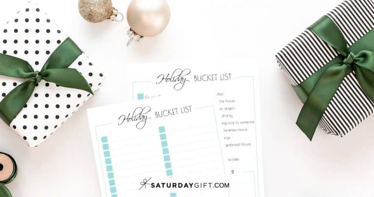 Holiday Bucket List Ideas + Free Bucket List Printables