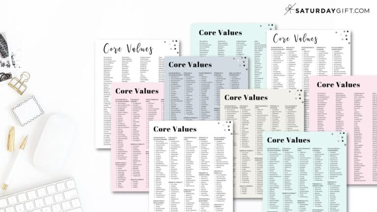 Core Values: Examples of 150+ Personal Values + Core Values List PDF