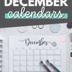 Cute Printable December Calendars