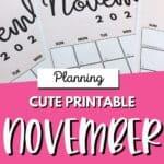 Cute Printable November Calendars